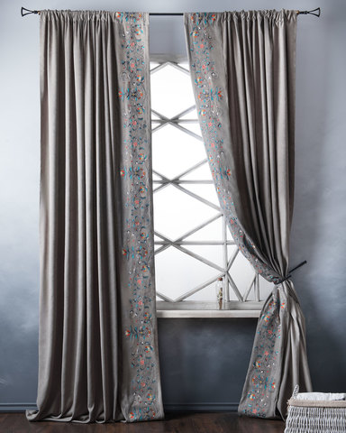 Комплект штор с подхватами Дебби серый