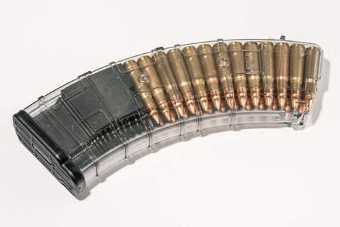 Магазин Pufgun для АКМ 7.62x39 ВПО-136 на 30 патронов, прозрачный
