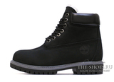 Ботинки Мужские Timberland 17061 Waterproof Black Grey с Мехом