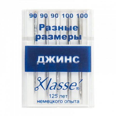 ИГЛЫ ДЛЯ БЫТОВЫХ ШВЕЙНЫХ МАШИН ДЖИНС-A6130/MIX-KLASSE