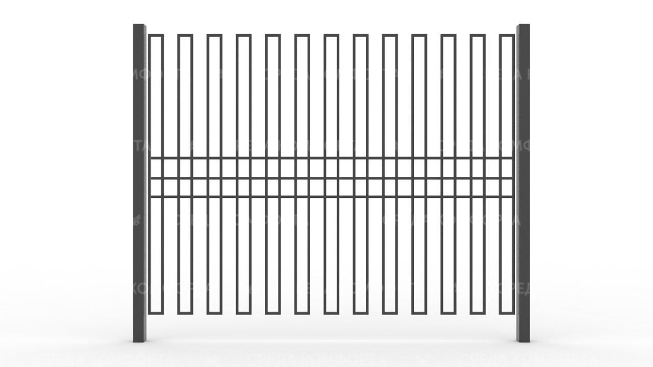 Забор из профильной трубы ZBR0159
