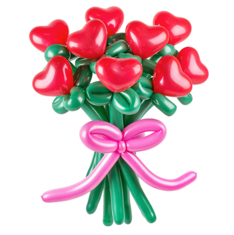 Букет цветов Сердца