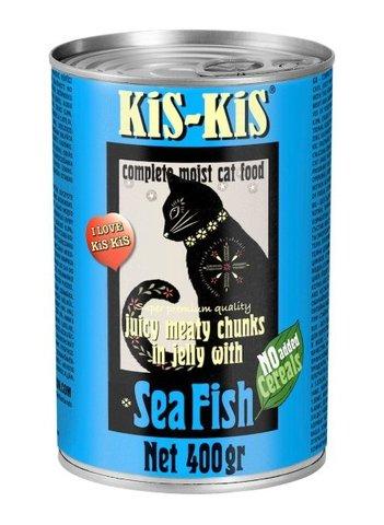 KiS-KiS Canned Food Sea Fish Консервы для кошек с морской рыбой 400 гр.
