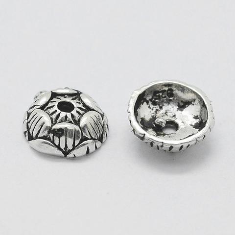 Шапочка Лотос 7,5 мм серебро 925 1 шт