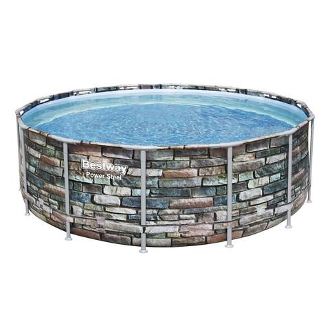 Каркасный бассейн Bestway Loft 56993 (427х122 см) с картриджным фильтром, лестницей и защитным тентом / 22518