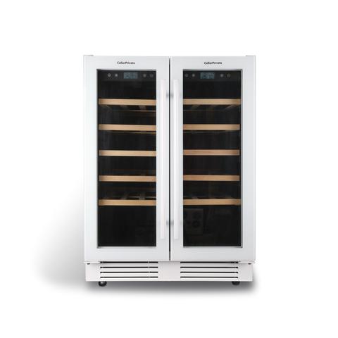 Встраиваемый винный шкаф  CellarPrivate CP042-2TW белый