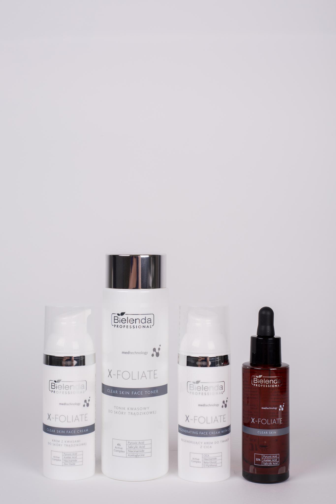 X-FOLIATE Clear Skin Тоник для лица  с кислотами для жирной кожи, 200 мл.