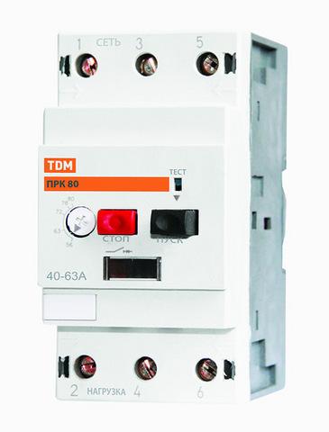 Пускатель ПРК80-2,5 In=2,5A Ir=1,6-2,5A Ue 660В TDM