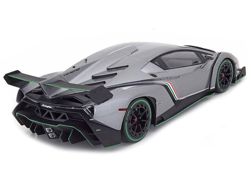 Коллекционная модель Lamborghini Veneno 2015 Grey Metallic/Green