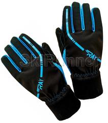 Теплые лыжные перчатки Ray Arctic Black-Blue