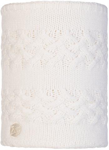 Вязаный шарф-труба с флисом Buff Neckwarmer Knitted Polar Savva White фото 1