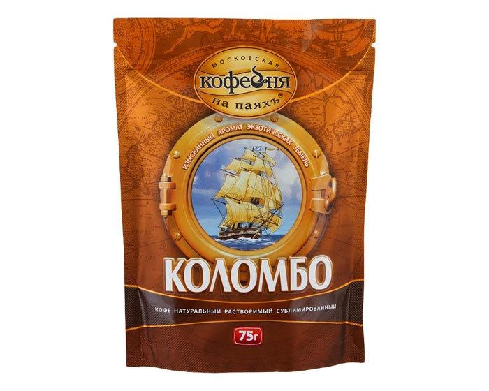 купить Кофе растворимый Московская Кофейня на Паяхъ Коломбо, 75 г пакет