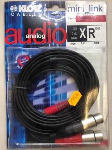 KLOTZ AT-CF0300 - Соединительный аудио кабель RC204