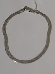 Лента с волной (серебряный браслет )