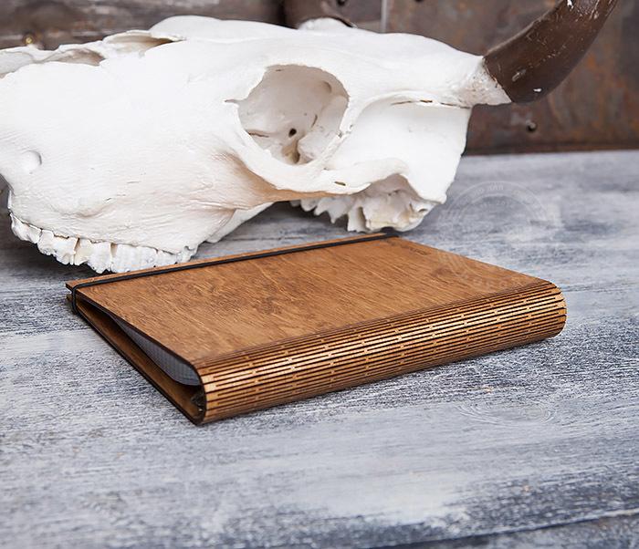 BC133-3 Деревянный блокнот ручной работы со сменным блоком фото 03
