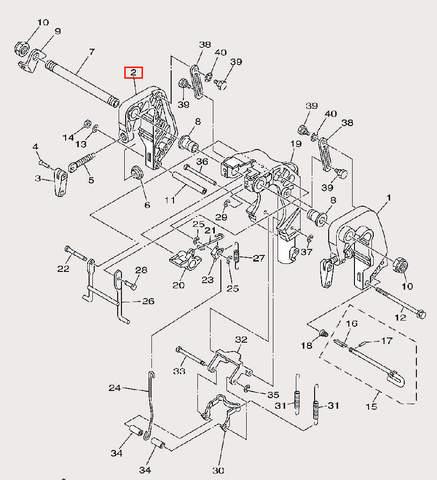 Скоба струбцины правая для лодочного мотора F9,9 Sea-PRO (21-2)