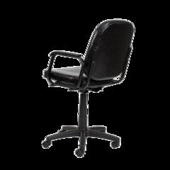 Парикмахерское кресло Бриз цвет черный матовый пневматика черная, пятилучье черное пластик