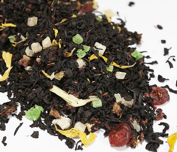 TEA-AR112 Черный ароматизированный чай «Сокровища Карибского Моря» (50 гр) фото 02