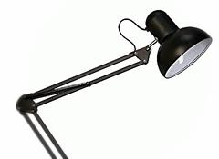 Настольная лампа на струбцине черная