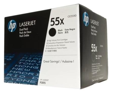 Оригинальный картридж HP CE255XD 55X черный