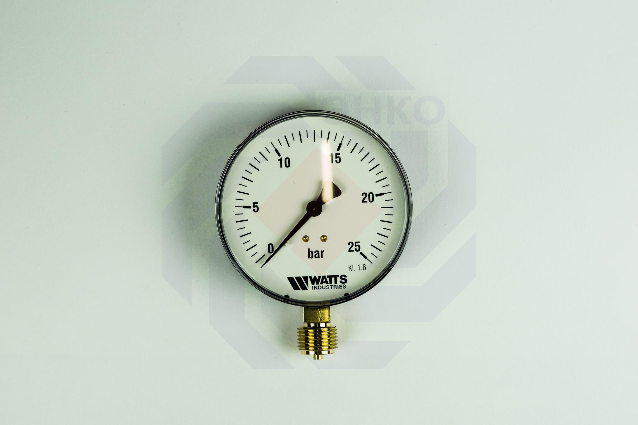 Манометр радиальный WATTS MDR 100/25 (F+R250) 0-25 бар 100 мм ½