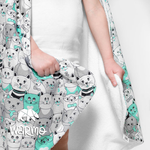 рушник для новонароджених з м'ятними котиками фото