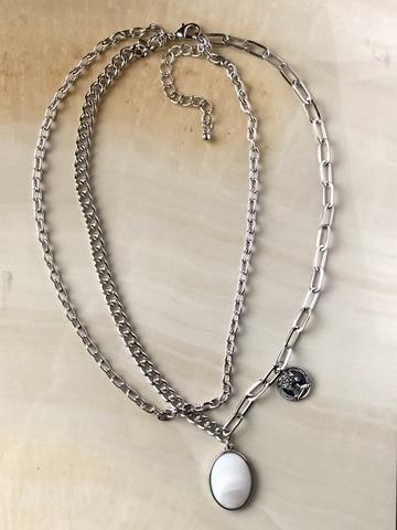 Колье Монро, серебряный цвет