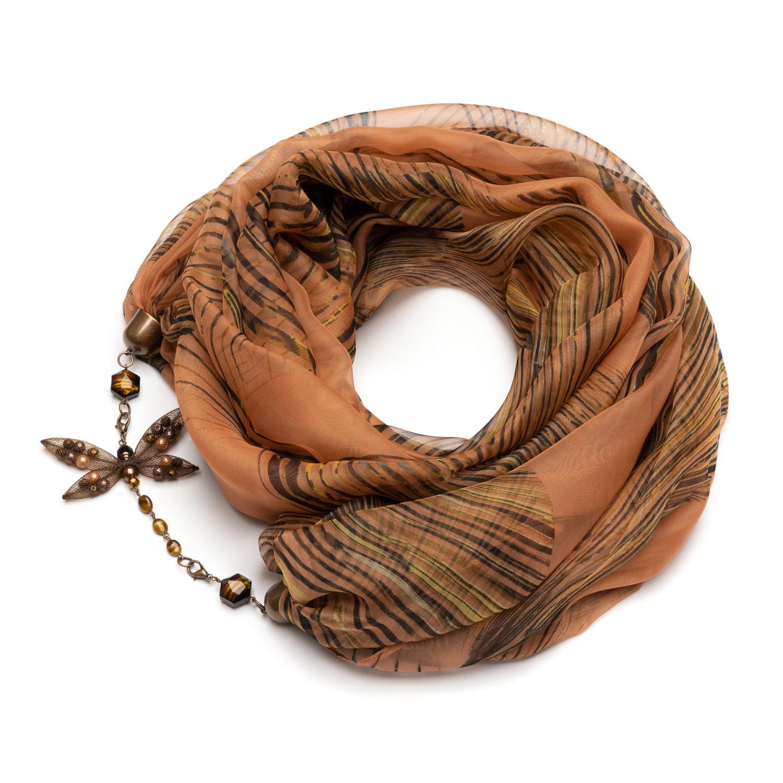Шелковый шарф терракотовый