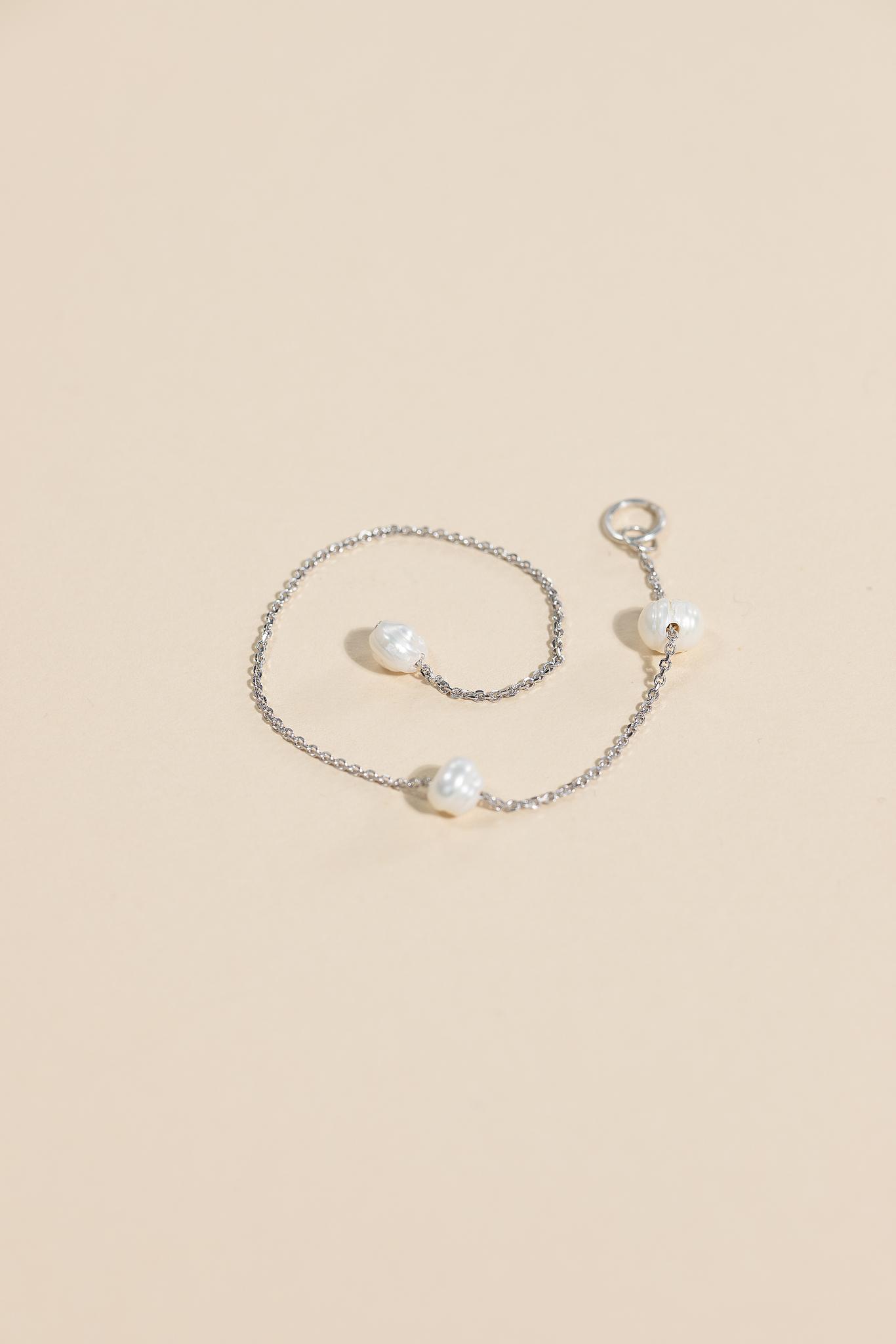 Серебряная подвеска для сережки гвоздика с культ.жемчугом