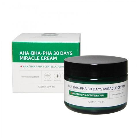 Some By Mi AHA-BHA-PHA 30 Days Miracle Cream крем для проблемной кожи с AHA BHA PHA кислотами
