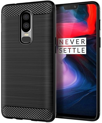 Чехол OnePlus 6 цвет Black (черный), серия Carbon, Caseport