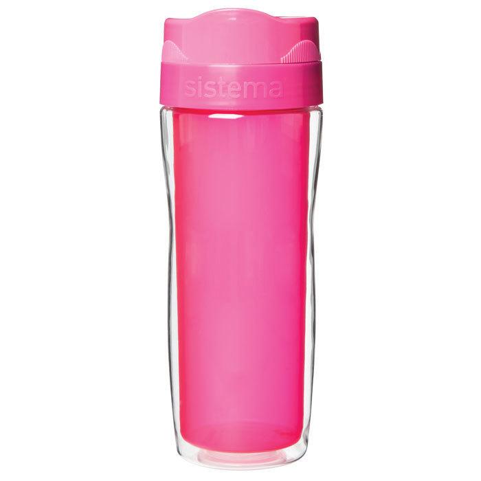 Термокружка Sistema 490 мл, цвет Розовый