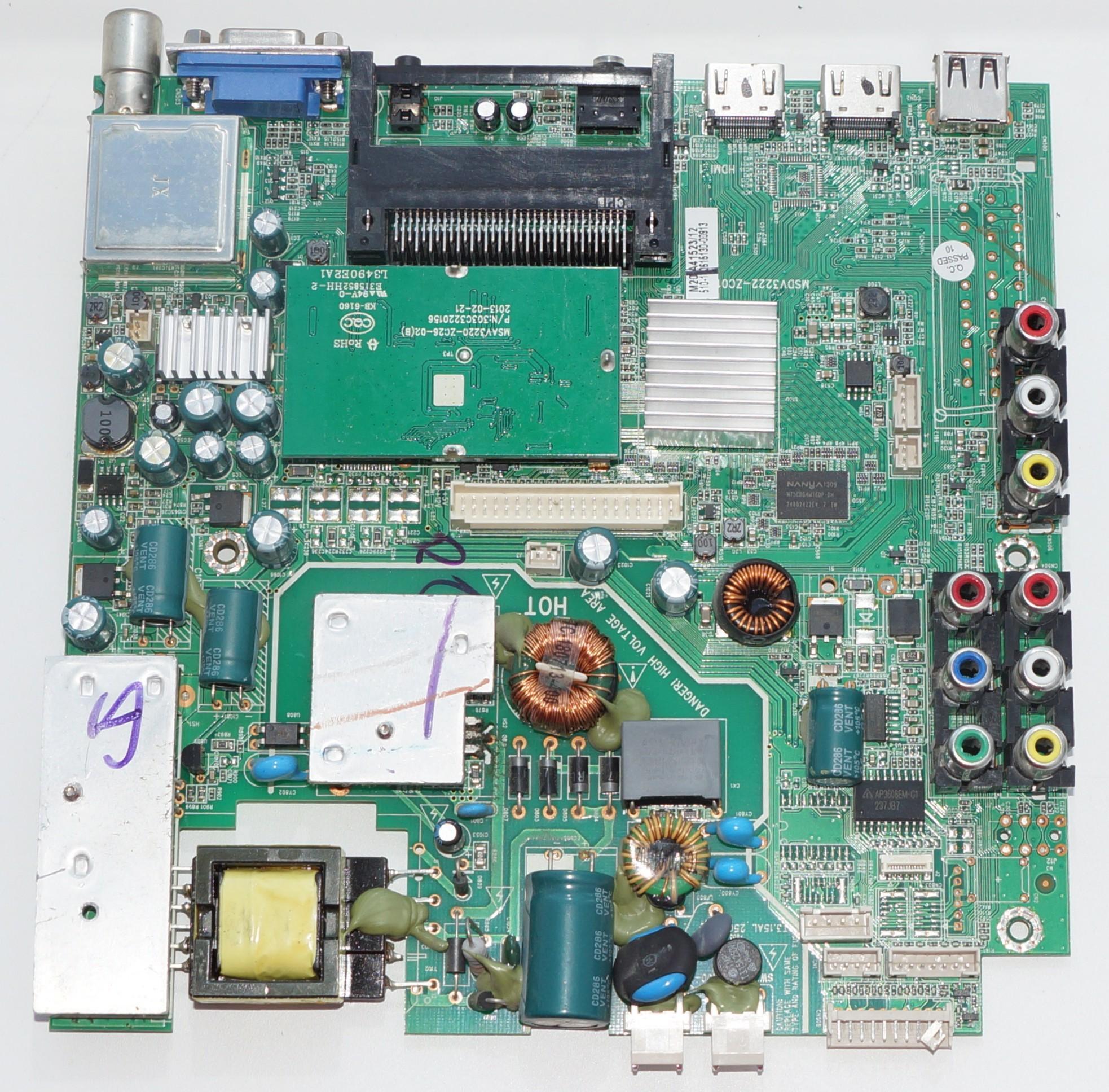 MSDV3222-ZC01-01 mainboard телевизора Mystery