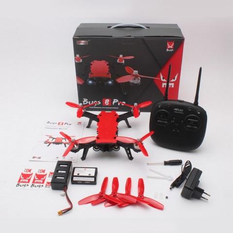 Радиоуправляемый гоночный квадрокоптер MJX Bugs 8 PRO с трехлопастными винтами и 3D-переворотами