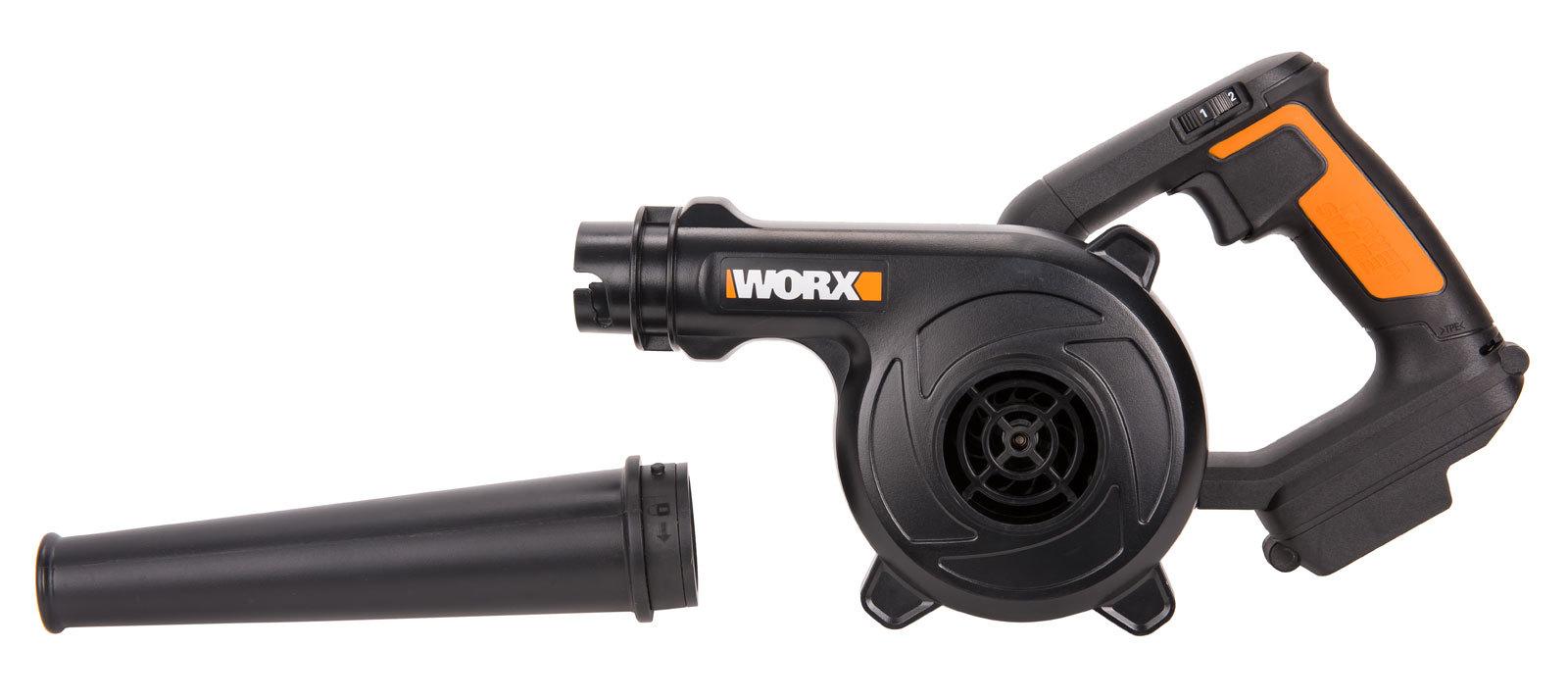 Воздуходувка аккумуляторная WORX WX094.9, 20В, без АКБ и ЗУ