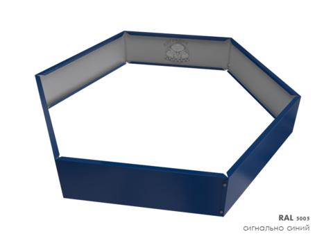 Клумба многоугольная оцинкованная 1 ярус RAL 5005 Сигнальный синий