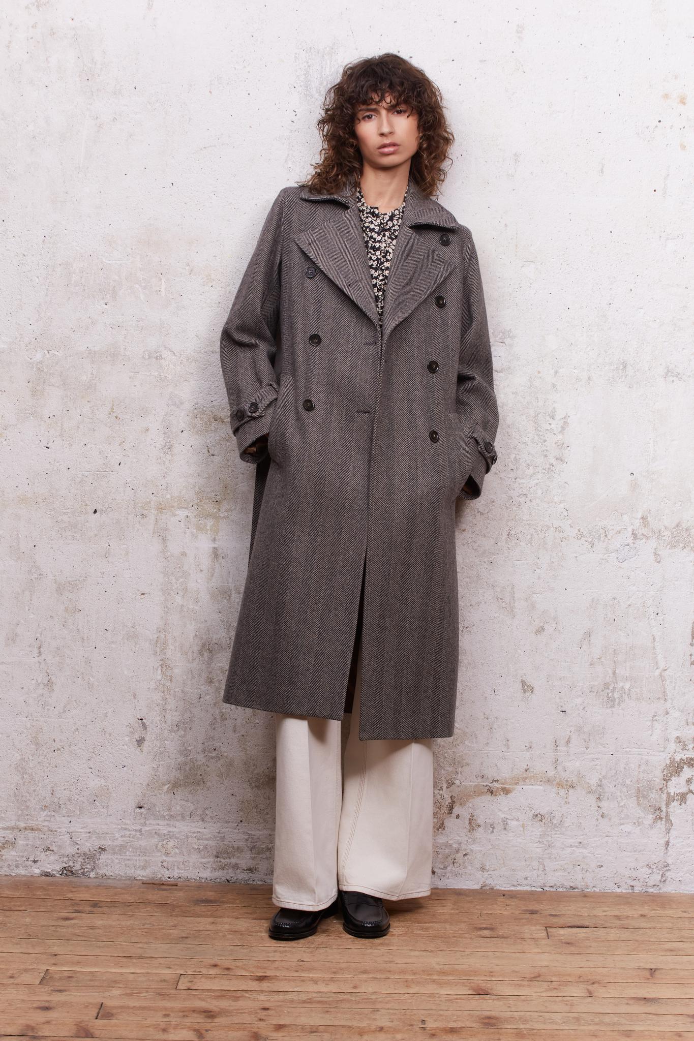 DALIE - Двубортное пальто с узором