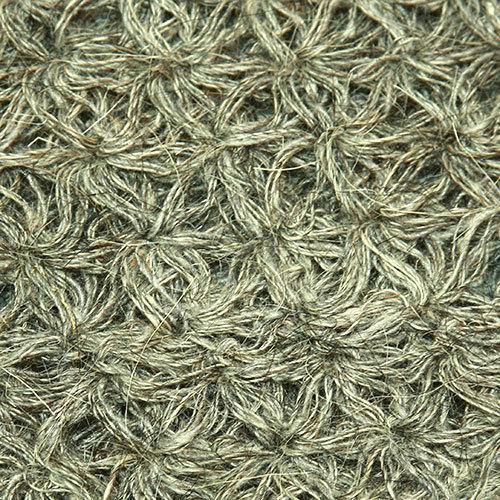 Мочалка-рукавичка из козьей шерсти, серая