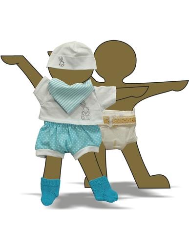 Комплект с подгузником - Демонстрационный образец. Одежда для кукол, пупсов и мягких игрушек.