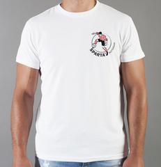 Футболка с принтом FC Sparta Rotterdam (ФК Спарта Роттердам) белая 002