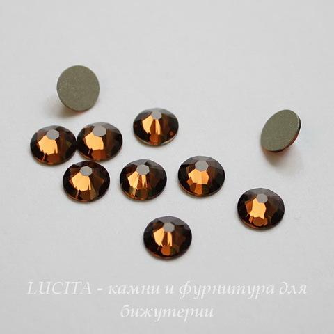 2058 Стразы Сваровски холодной фиксации Smoked Topaz ss12 (3,0-3,2 мм), 10 штук ()