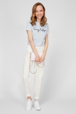 Женские белые брюки CO MODERN TAPERED CHINO Tommy Hilfiger