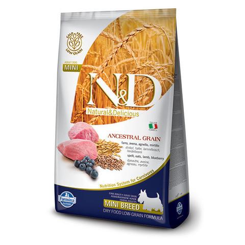 Корм Farmina для собак Farmina N&D Ancestral Grain ягненок с черникой (для мелких пород) 7 кг
