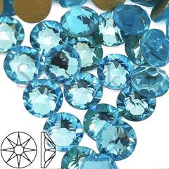 Стразы купить оптом Xirius 8x8 огранка Aquamarine бирюзовые
