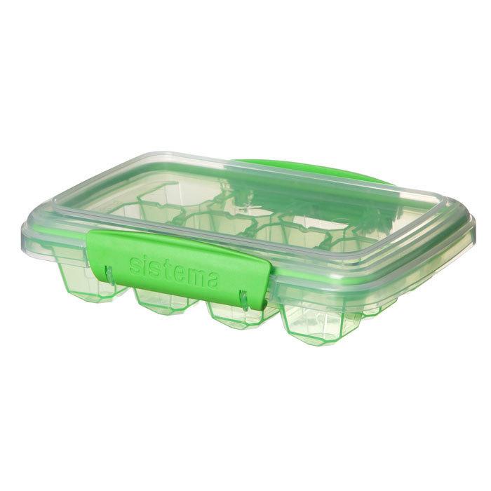 """Форма для льда Sistema """"KLIP IT"""" 12 ячеек, цвет Зеленый"""