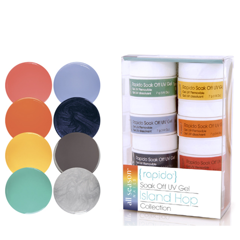Набор цветных Soak off gels lsland Hop 8шт. 7,1 мл