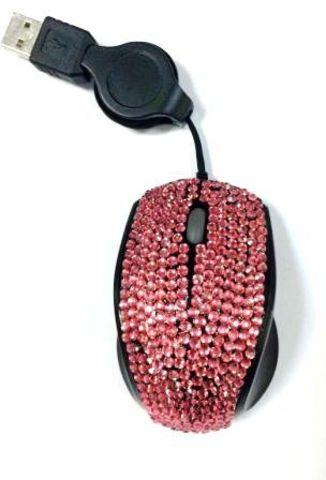 Мышь оптическая mini со стразами, 4067