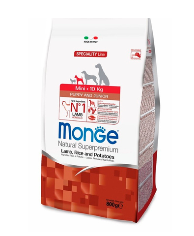 Monge Dog Speciality Mini корм для щенков мелких пород (ягненок с рисом) 800г