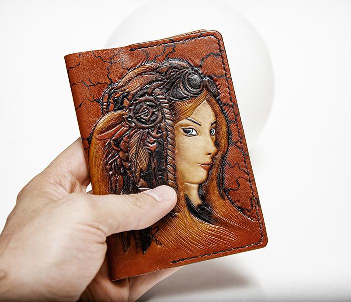 BC232 Прикольная обложка на паспорт в девушкой «Стим Панк» фото 03