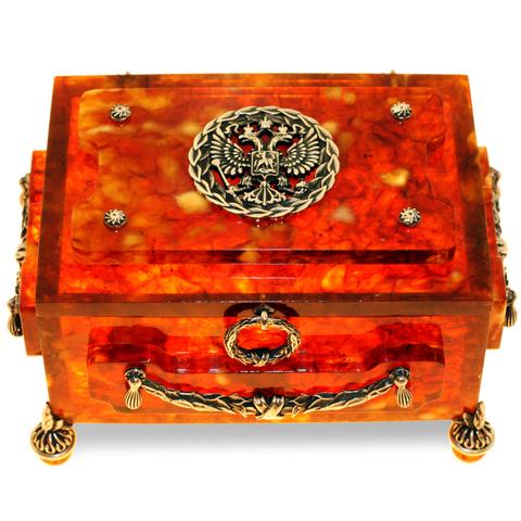 Шкатулка из янтаря «Княжеская»